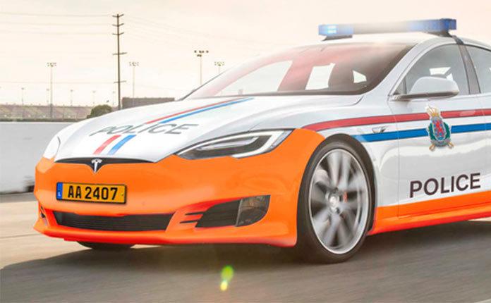 полиция Люксембурга на Тесле