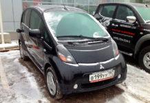 Mitsubishi-i-MiEV зимой фото