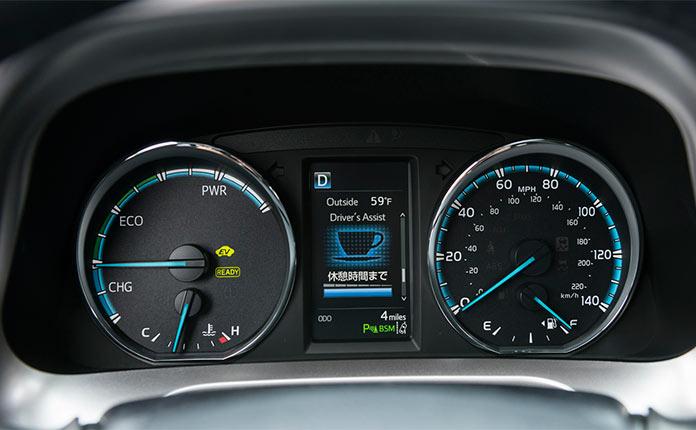 приборная панель toyota rav4 hybrid 2016