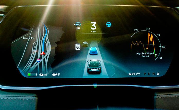 Новая навигация Tesla